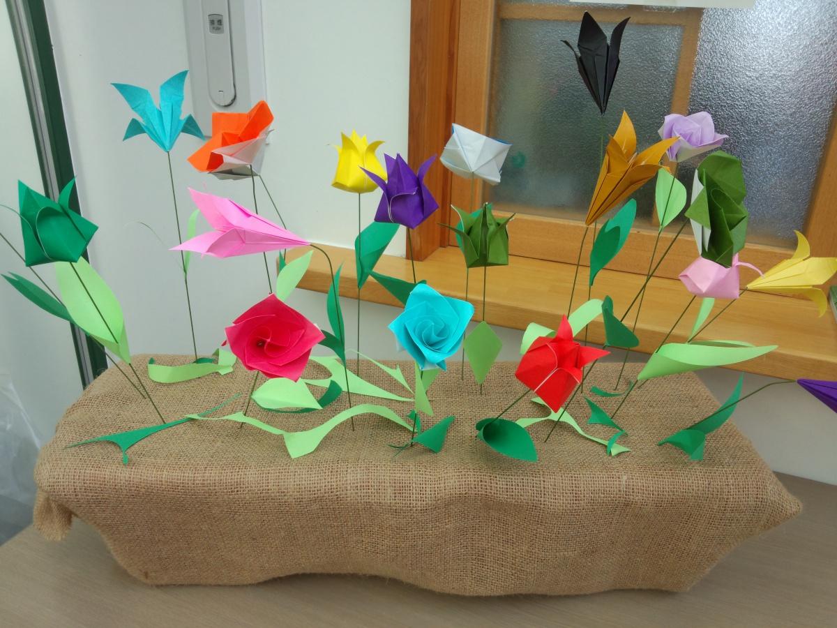 記念館に花を咲かせよう | 新着 ... : 折り紙お花の折り方簡単 : すべての折り紙